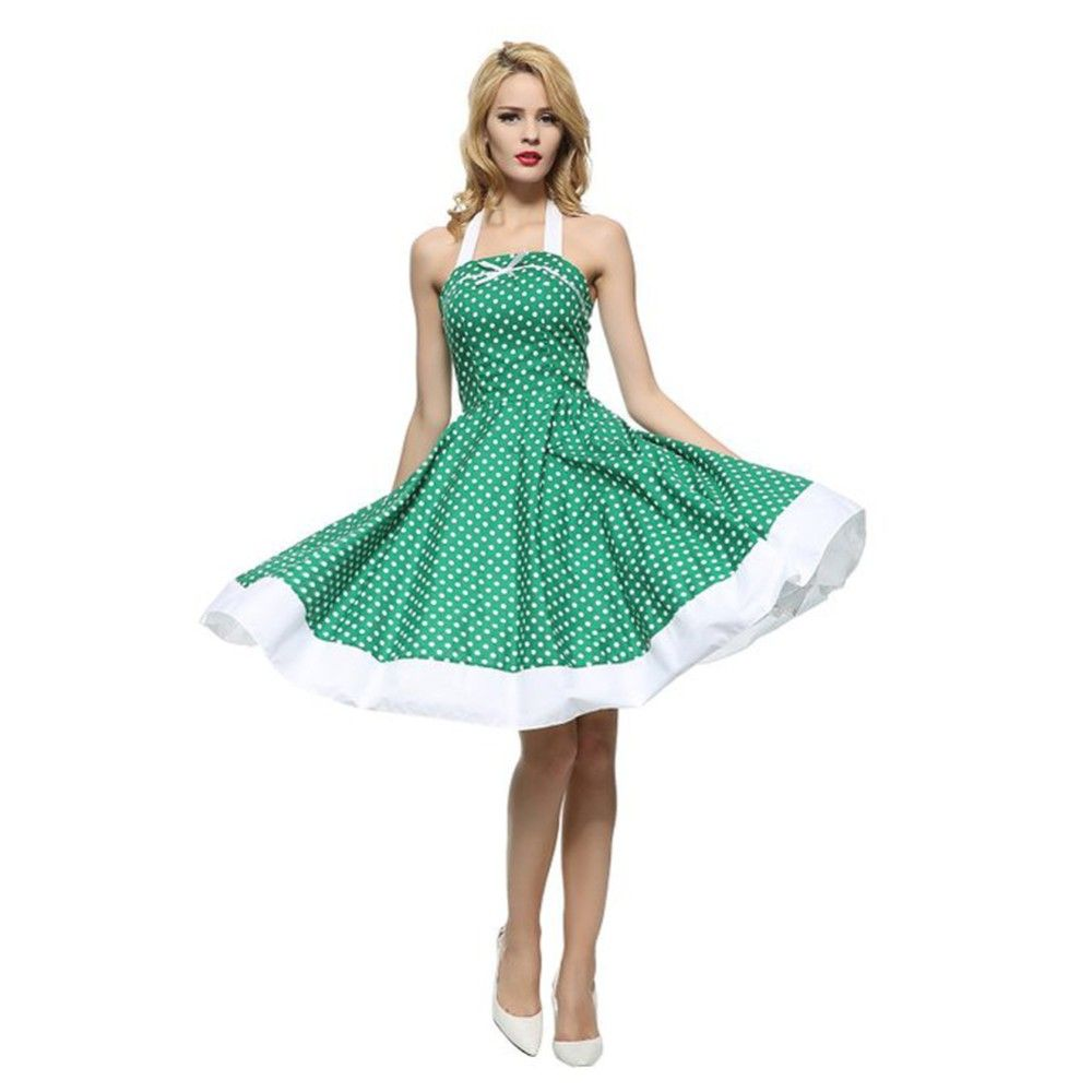 0083985291ba $ 16.98 | Maggie Tang 50s VTG Hepburn Rockabilly Polka Dots Pinup Party  Swing Dress R-537 ❤ #maggie #tang #hepburn #rockabilly… | Women's fashion  (66) in ...