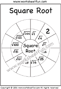 Square Root – 1 Worksheet | Squares & Square Roots | Square roots ...
