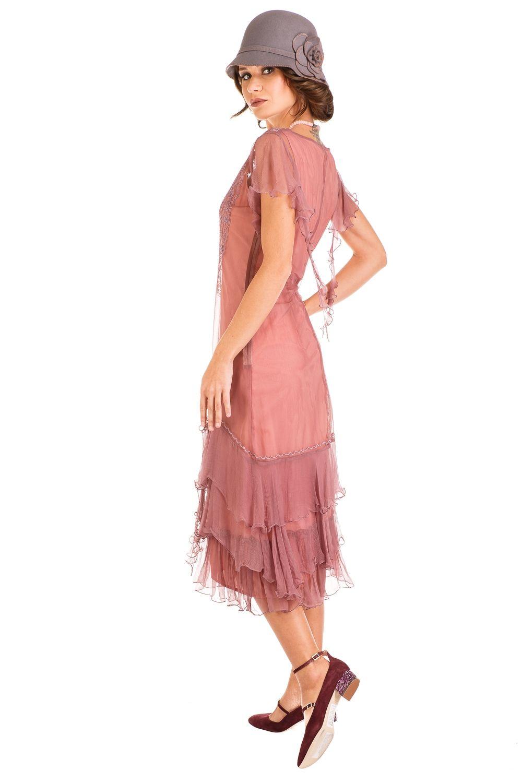 Nataya 1920\'s-1930\'s flapper dress alexa 283 mauve
