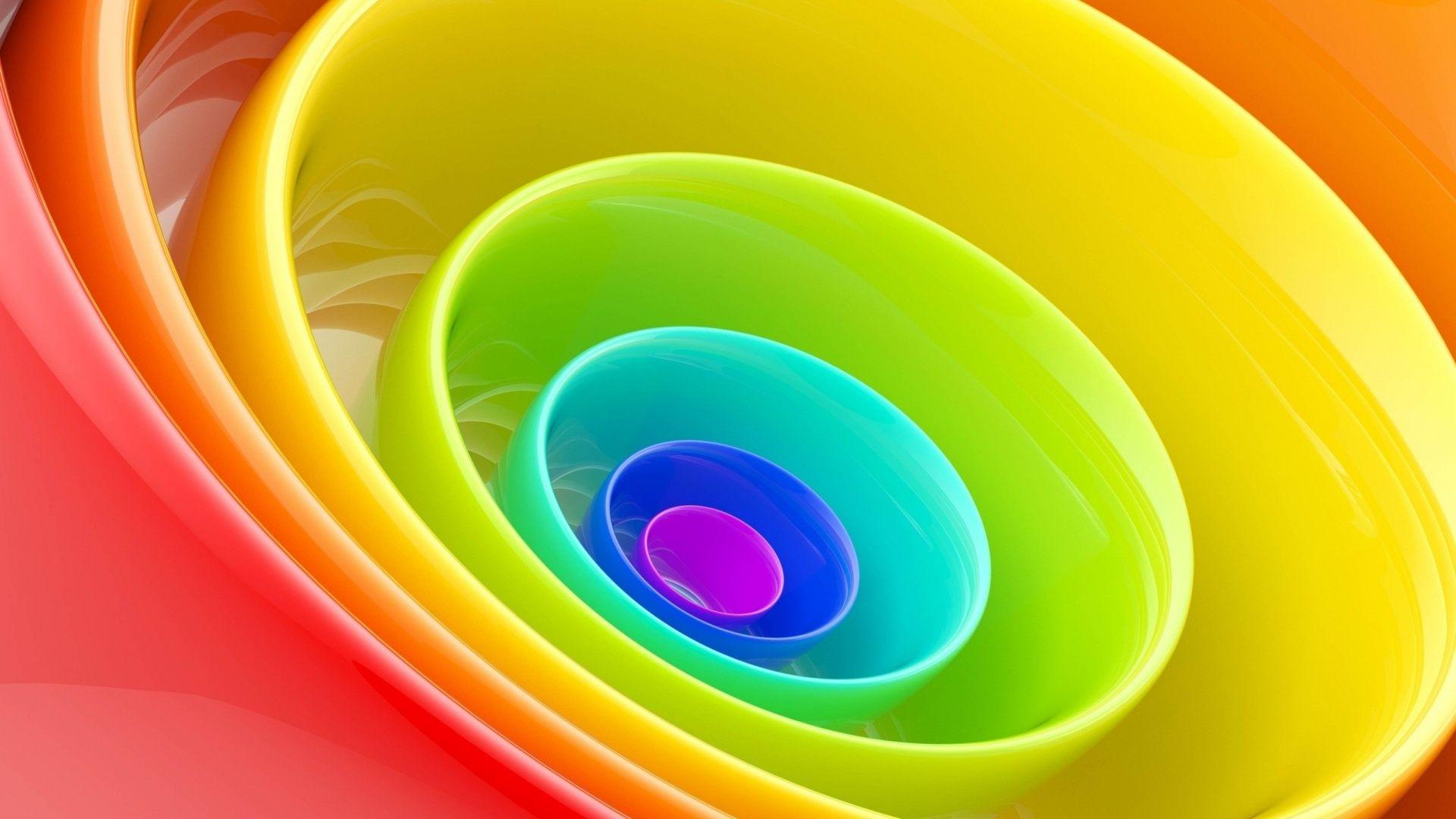 Rainbow Colour Ring Wallpaper Rainbow Wallpaper Wallpaper Art
