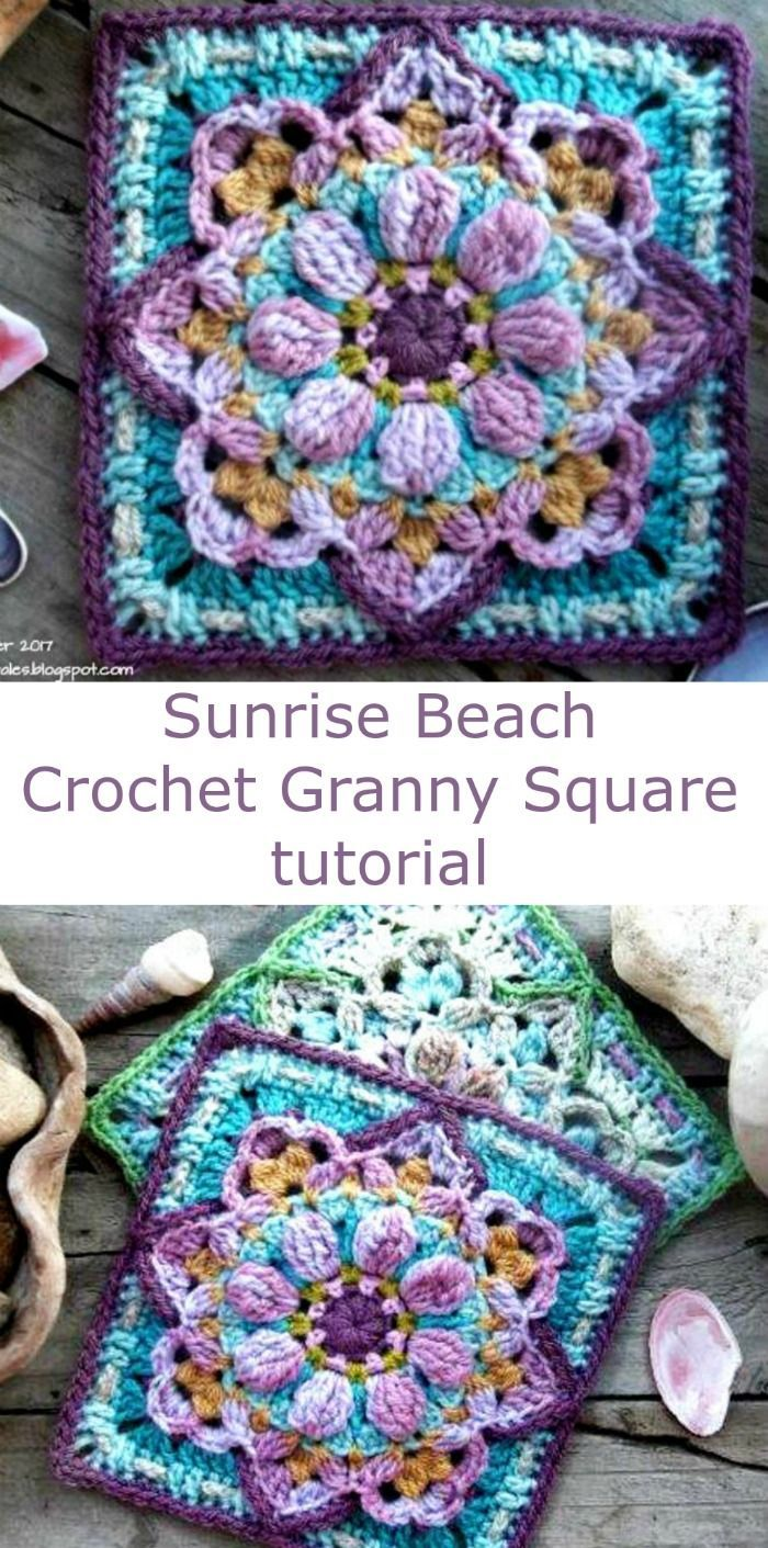 Free granny square pattern and tutorial sunrise beach i love the free granny square pattern and tutorial sunrise beach i love the texture and how bankloansurffo Image collections