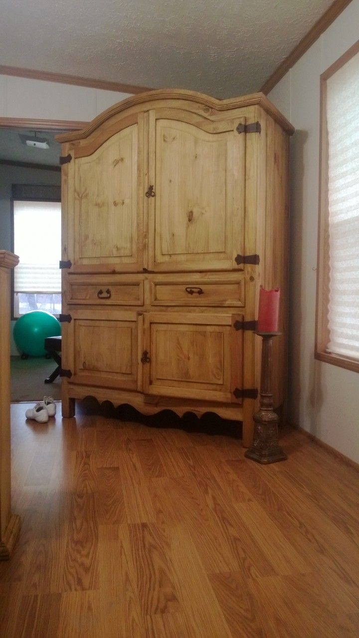 Beau Natural Wood Armoire To Match Natural Wood Bedroom Furniture.