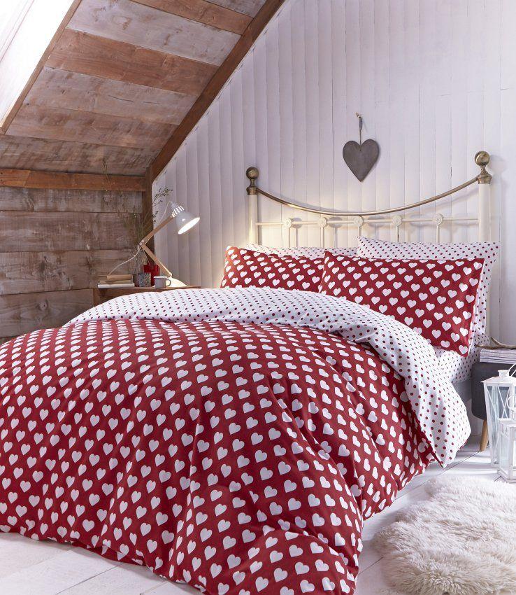 Romantisches #Schlafzimmer Im #Landhaus Look Mit Süßer Herzchenbettwäsche