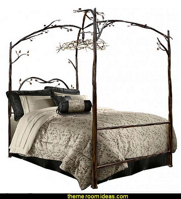 Enchanted Canopy Bed forest theme bedrooms - woodland forest theme bedroom fairies decor - fairy room decor - woodland nursery decor - woodland aniu2026  sc 1 st  Pinterest & Enchanted Canopy Bed forest theme bedrooms - woodland forest theme ...