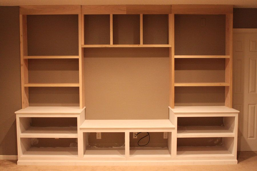 Built in entertainment center by thorinoakenshield woodworking community Design plans for entertainment center