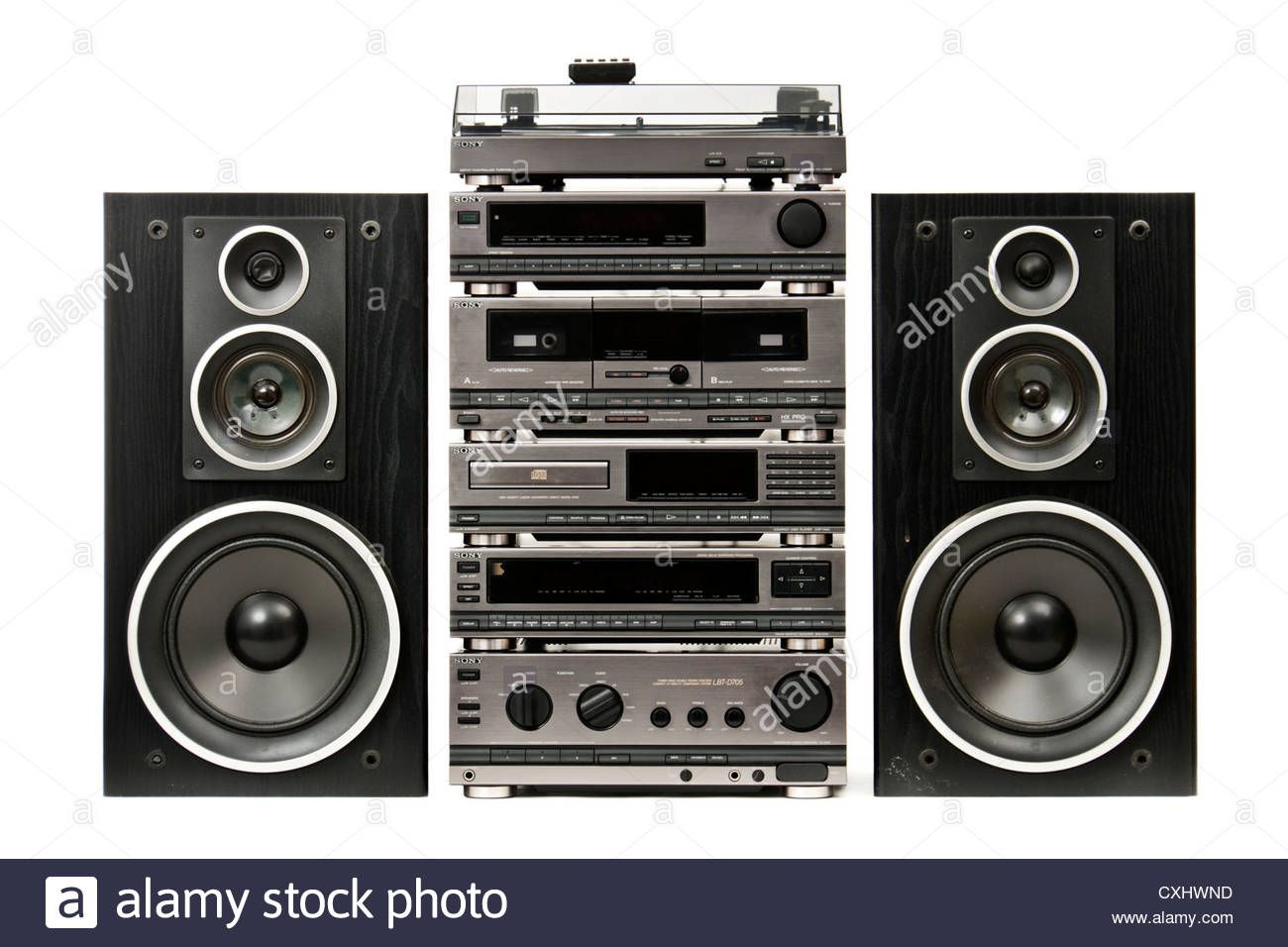 Download This Stock Image Vintage Sony Lbt D705 Integrated Hi Fi