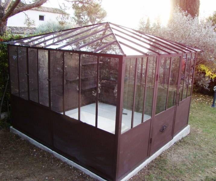 Serre en fer forgé 3x3 aix & terra | veranda / greenhouse / potting ...