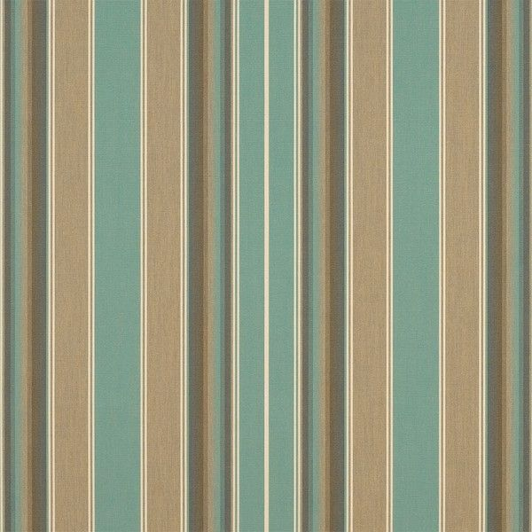 Sunbrella Awning Stripe 4868 0000 Kiawah Spa 46 Fabric