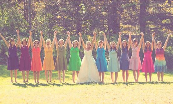 rainbow inspired weddings, love this picture