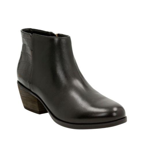 Women's Gelata Italia Black Combi Leather Ankle Boots