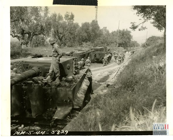Knocked out German tanks outside of Cori, May 1944 | WWII