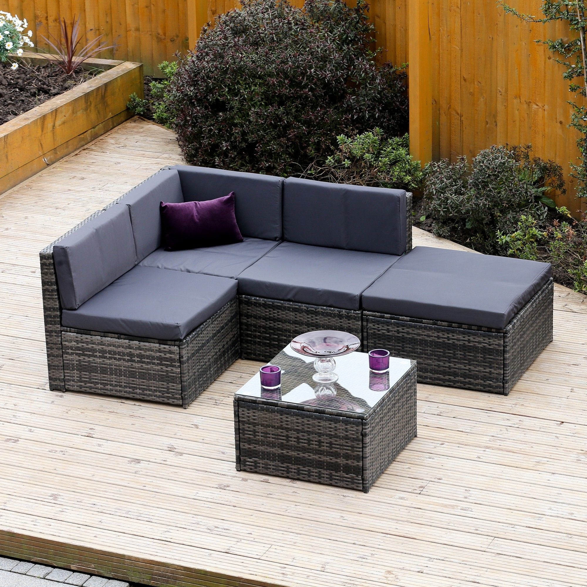 Pin By Abreo Rattan Garden Furniture On Grey Rattan Garden Furniture Grey Rattan Garden Furniture Grey Rattan Corner Sofa Rattan Corner Sofa