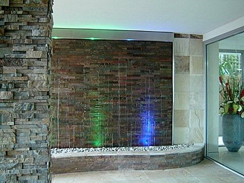 Stacked Stone Water Wall 3... Our clients were after a Stacked ...