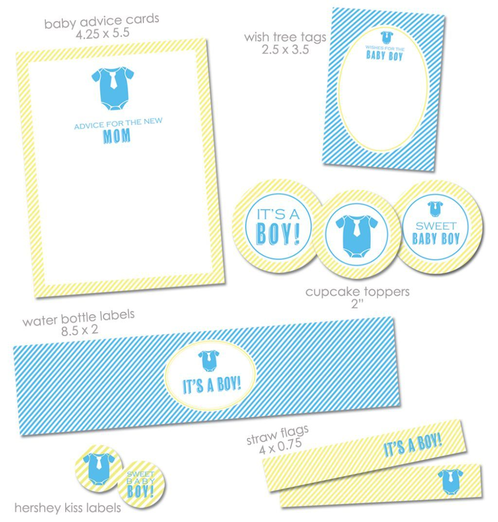 Free Baby Shower Printable Package   Would Be So Cute With A Little  Clothesline With Onesies W/ties And Ties Hanging From It. Little Man Shower  : )