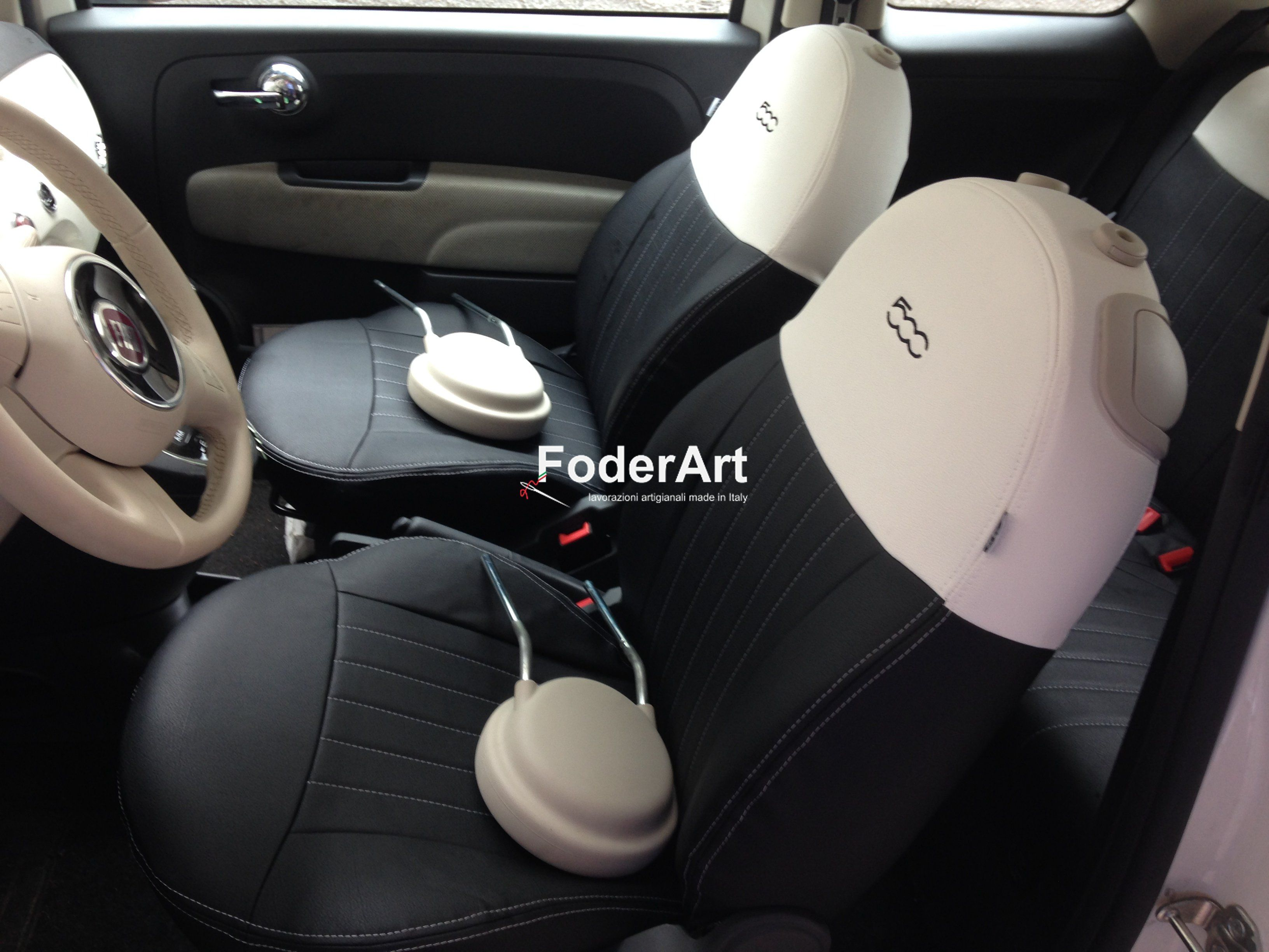 seat cover fiat 500 fodere coprisedili fiat 500. Black Bedroom Furniture Sets. Home Design Ideas