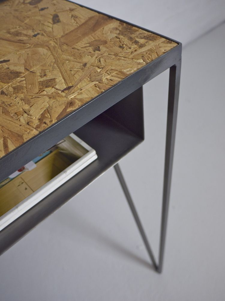 Steel Metal Desk With Osb Table Top Designed By Amp New Steelfurniture Madeinuk Andnewfurniture