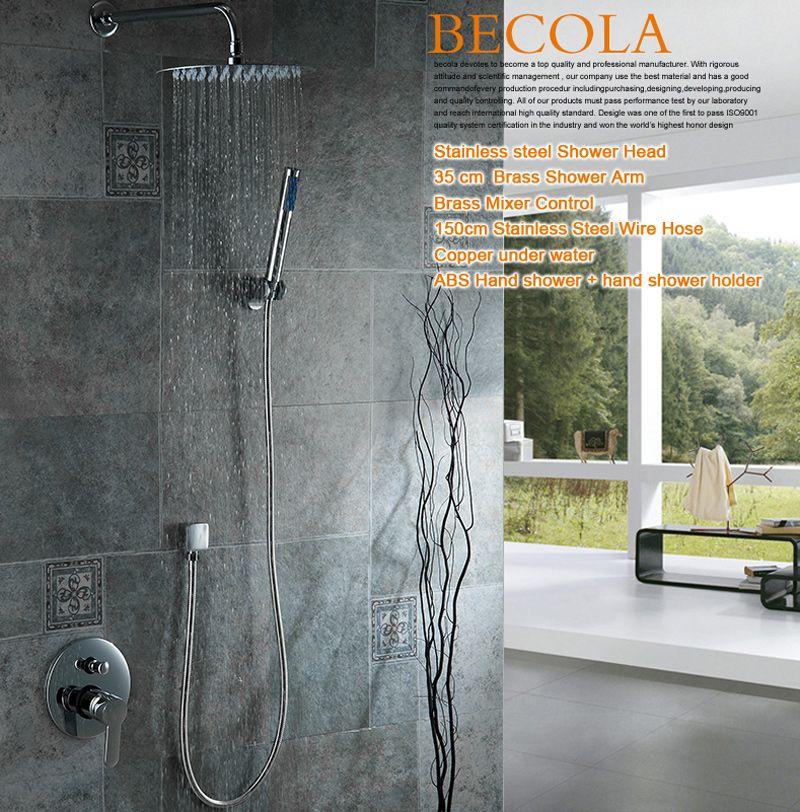 Brand Design Luxury 8-10-12-16 inch Round Stainless Steel Bathroom ...