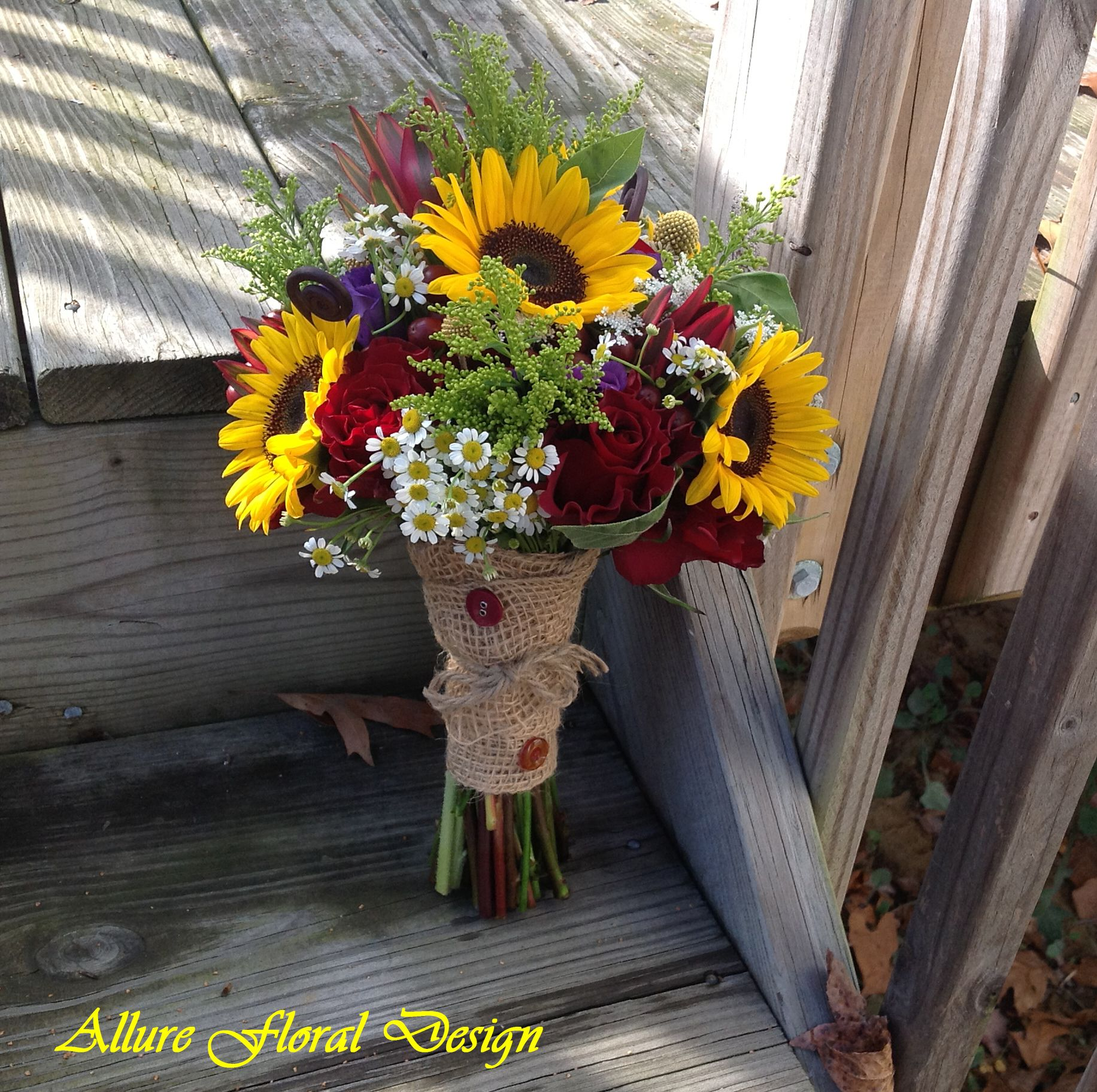 Fall Wedding Sunflower Bouquet