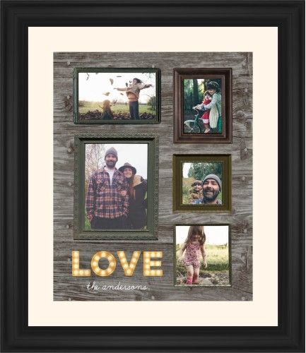 Photo Real Love Framed Print, Black, Classic, None, Cream, Single piece, 16 x 20 inches, Brown
