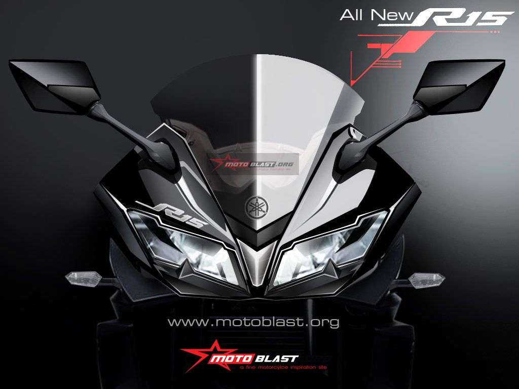Front-end of the Yamaha R15 v3 0 rendered, launches in 2017