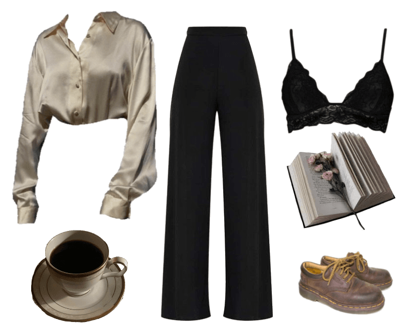 dark outfit academia aesthetic outfits clothes casual chill retro visit hogwarts mood shoplook