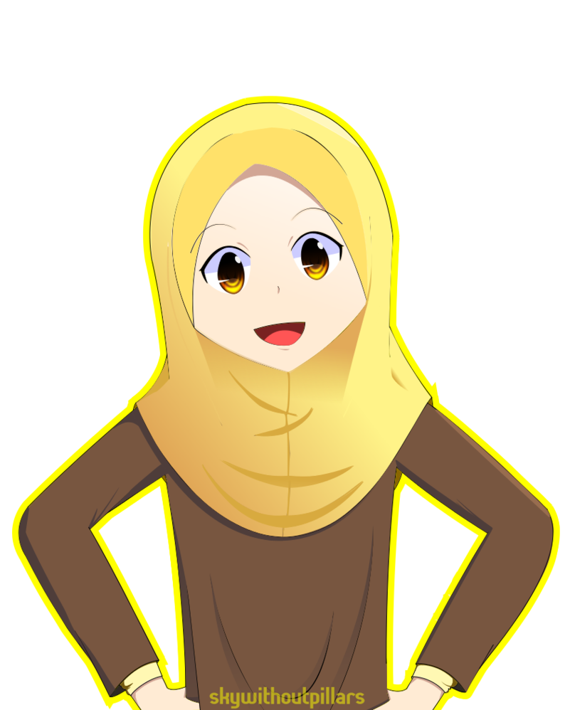My first hijab drawing! Muslim Cartoons ( images