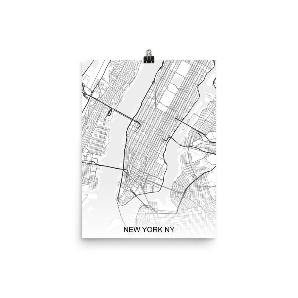 Nyc Subway Map Ebay.Details About New York City Colorful Minimalist Art Map Art Poster