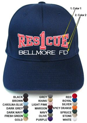 Fire Department Clothing Firefighter Custom FD Rescue Company Flexfit  Fitted Hat  15.95 03f0c5b9acd