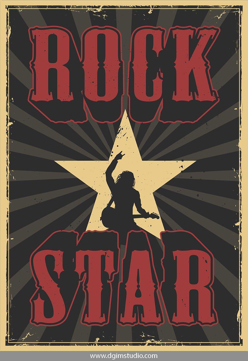 Rock Roll Designs Bundle Rock And Roll Rock N Roll Music