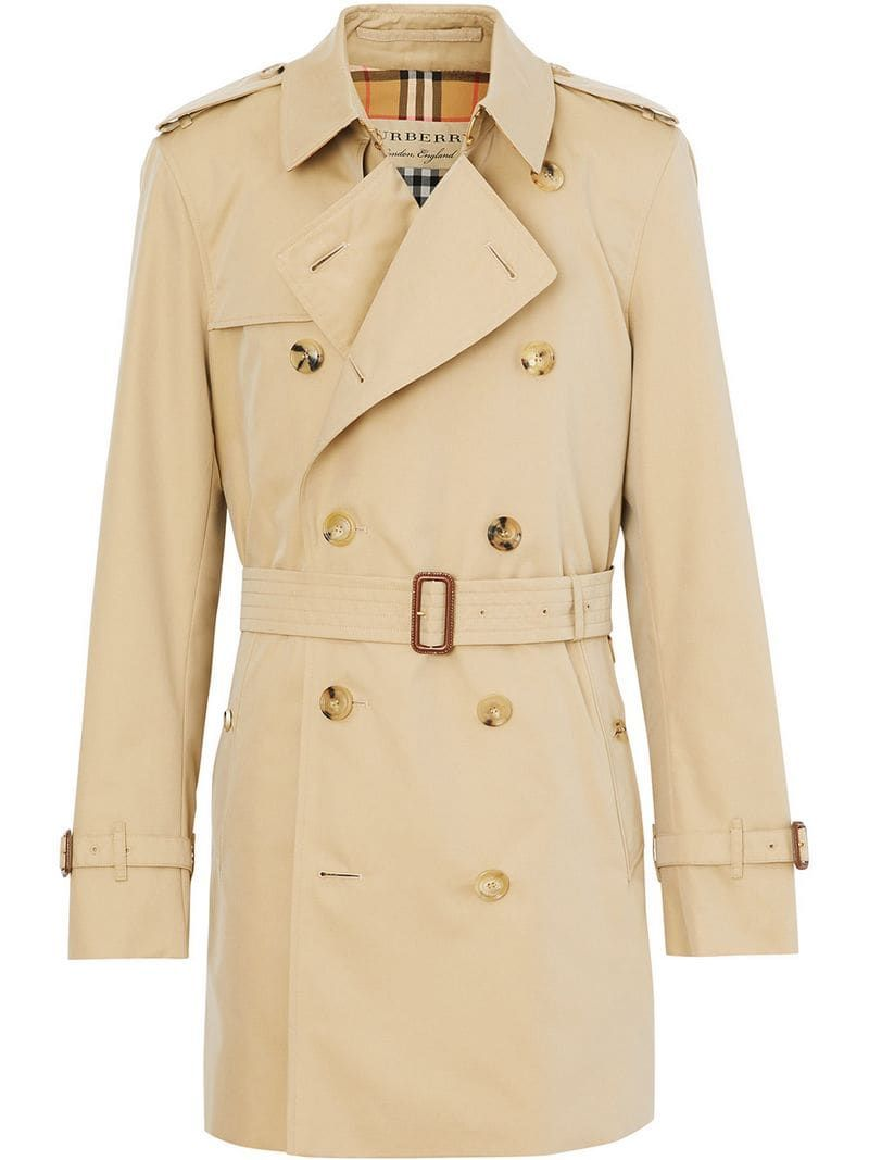 Photo of Burberry Short Chelsea Fit Trench Coat Ss20