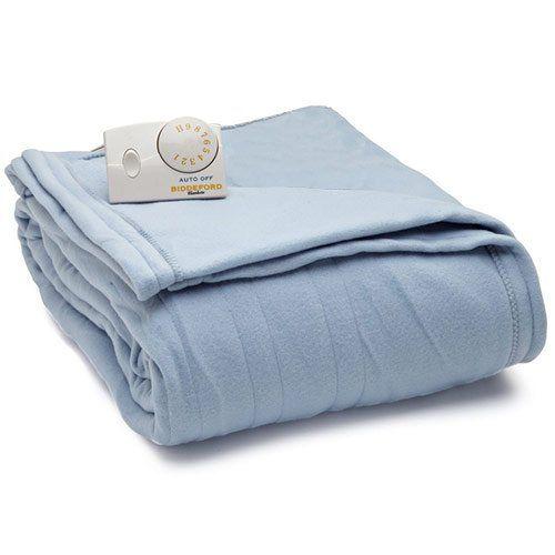 Electric Blanket Heated Plush In Blue In 2020 Heated Blanket Biddeford Blankets Polyester Blankets