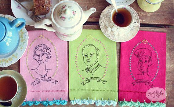 Bundle Downton Abbey Embroidery Pattern by aprilheatherart on Etsy
