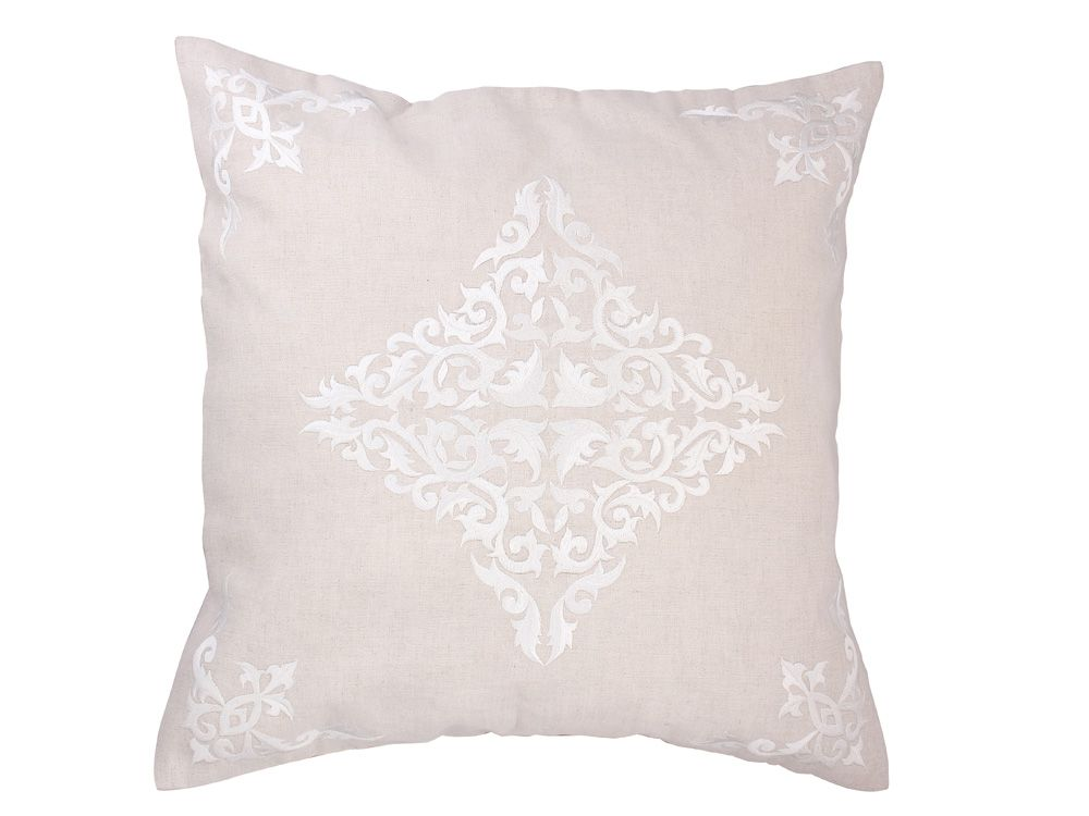 Abbey White Cushion Cover