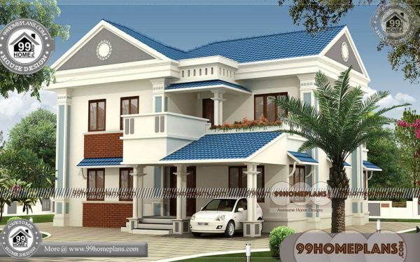 New House Models In India 90 Two Storey Residential House Floor Plan Kerala House Design Model House Plan House Design Photos