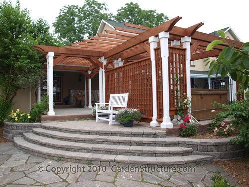 Perfect A Large Pergola On Existing Patio Near Barrie Ontario   Gardenstructure.com