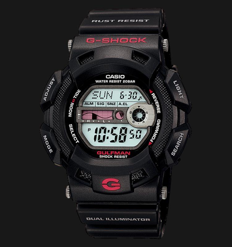 f4bbf8d17ae024 Beli jam tangan Casio G-Shock GULFMAN G-9100-1DR - Daftar Harga jam  termurah, review, spesifikasi lengkap Indonesia di Jamtangan.com