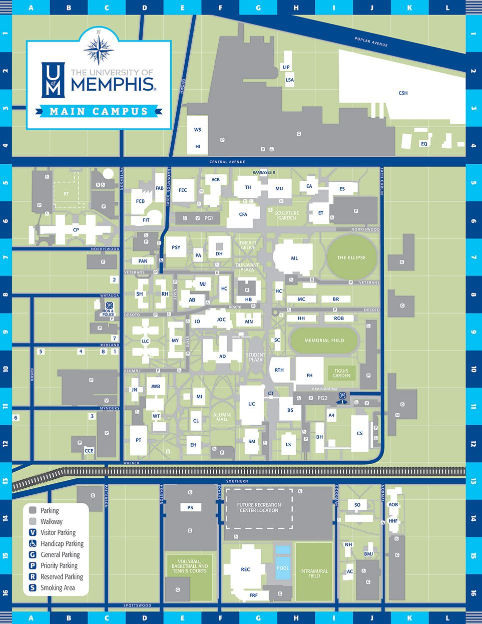 University Of Memphis Campus Map : university, memphis, campus, Campus, Campus,