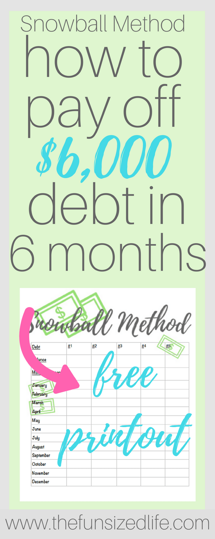 Debt Snowball Helped Us Pay Off 6 000 Of Debt In 6 Months Paying Off Credit Cards Budgeting Money Money Management