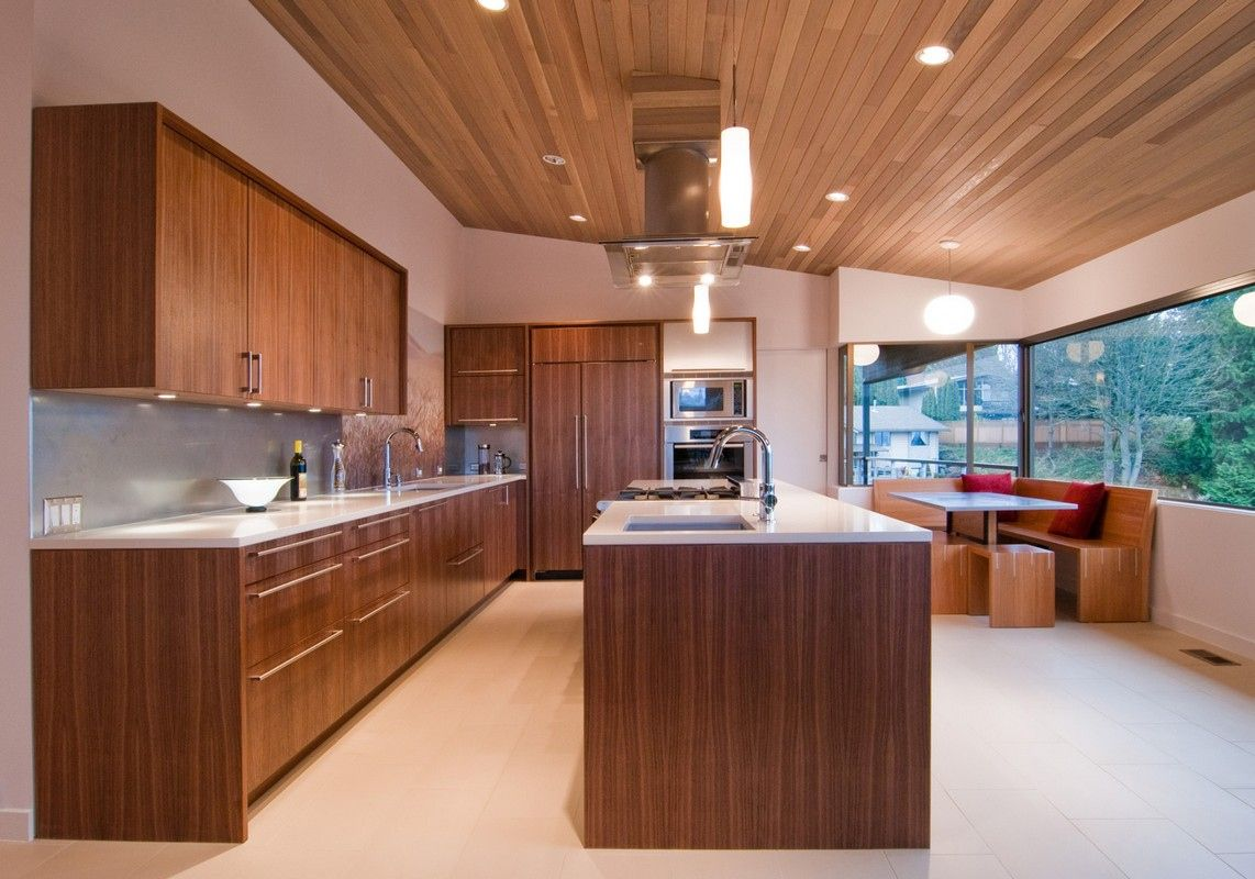 50 Modern Walnut Kitchen Cabinets Neutral Interior Paint Colors Check More At Http Www Soaror Modern Walnut Kitchen Walnut Kitchen Cabinets Modern Kitchen