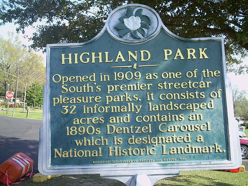Highland park is an historic park in meridian mississippi