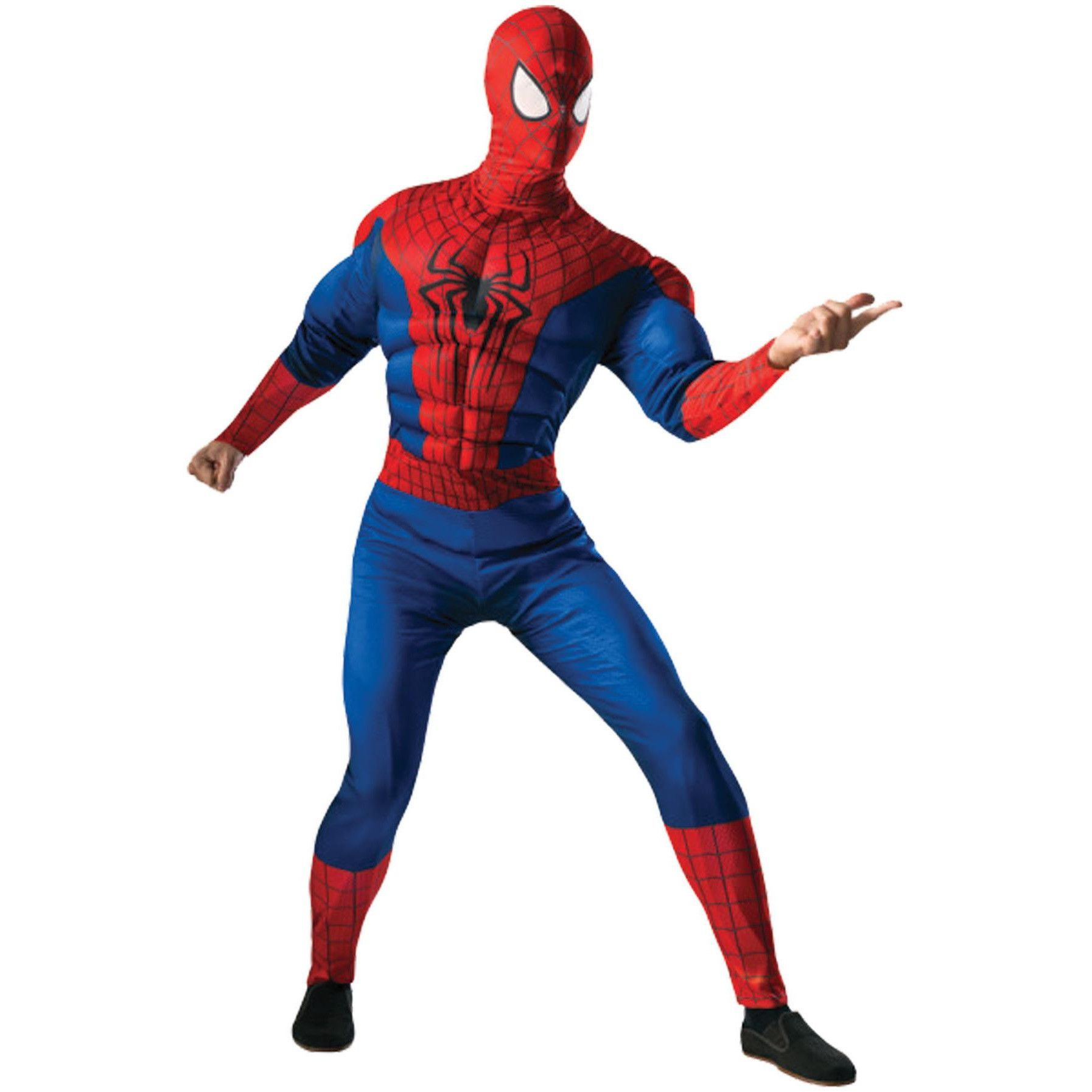 Description This Spider-Man costume jumpsuit will make you look like Spider-Man himself. Includes Spider-Man printed muscle chest jumpsuit with padded  sc 1 st  Pinterest & Spiderman Adult Std | Muscle building | Pinterest | Muscle ...