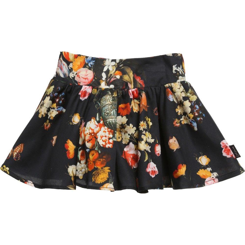 Blue Floral Cotton Skirt, Jottum, Girl