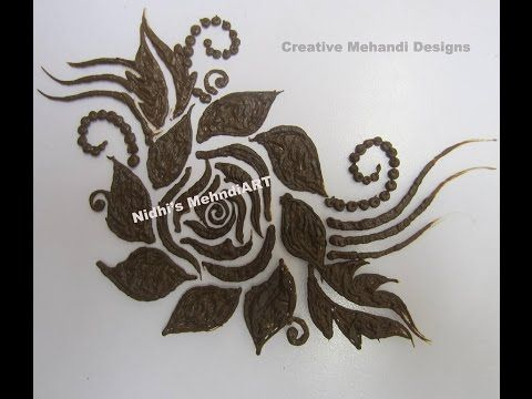 How To Draw Easy Rose Flower Patch In Henna Mehndi Design Tutorial Roses Drawing Mehndi Designs Henna Mehndi Design