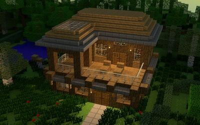 House In Minecraft Wallpaper Minecraft House Designs Minecraft Farm Cool Minecraft Houses