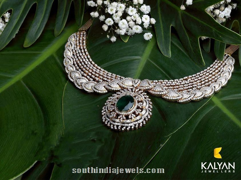 255581ff5 Stunning Diamond Necklace From Kalyan Jewellers | Necklace dia ...