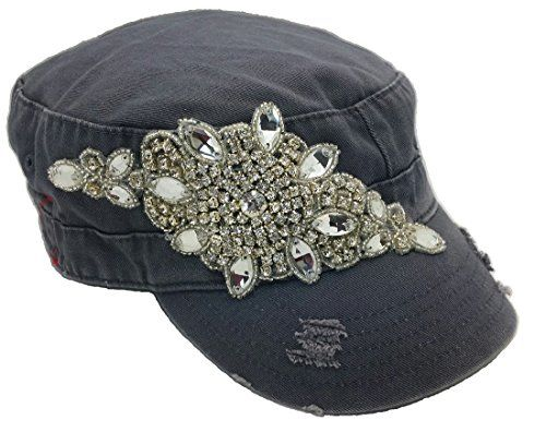 Cap Couture Women's Flashy Flower Cadet Hat Grey One Size Cap Couture http://www.amazon.com/dp/B00P8B0GO6/ref=cm_sw_r_pi_dp_zFRwub1M1EWF4