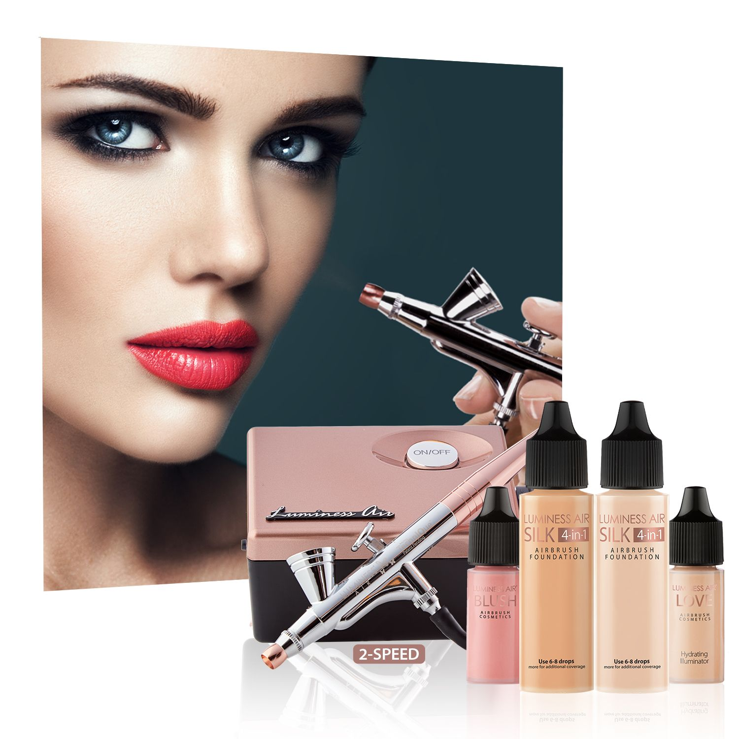 Luminess Legend Airbrush System Rose Gold & Black