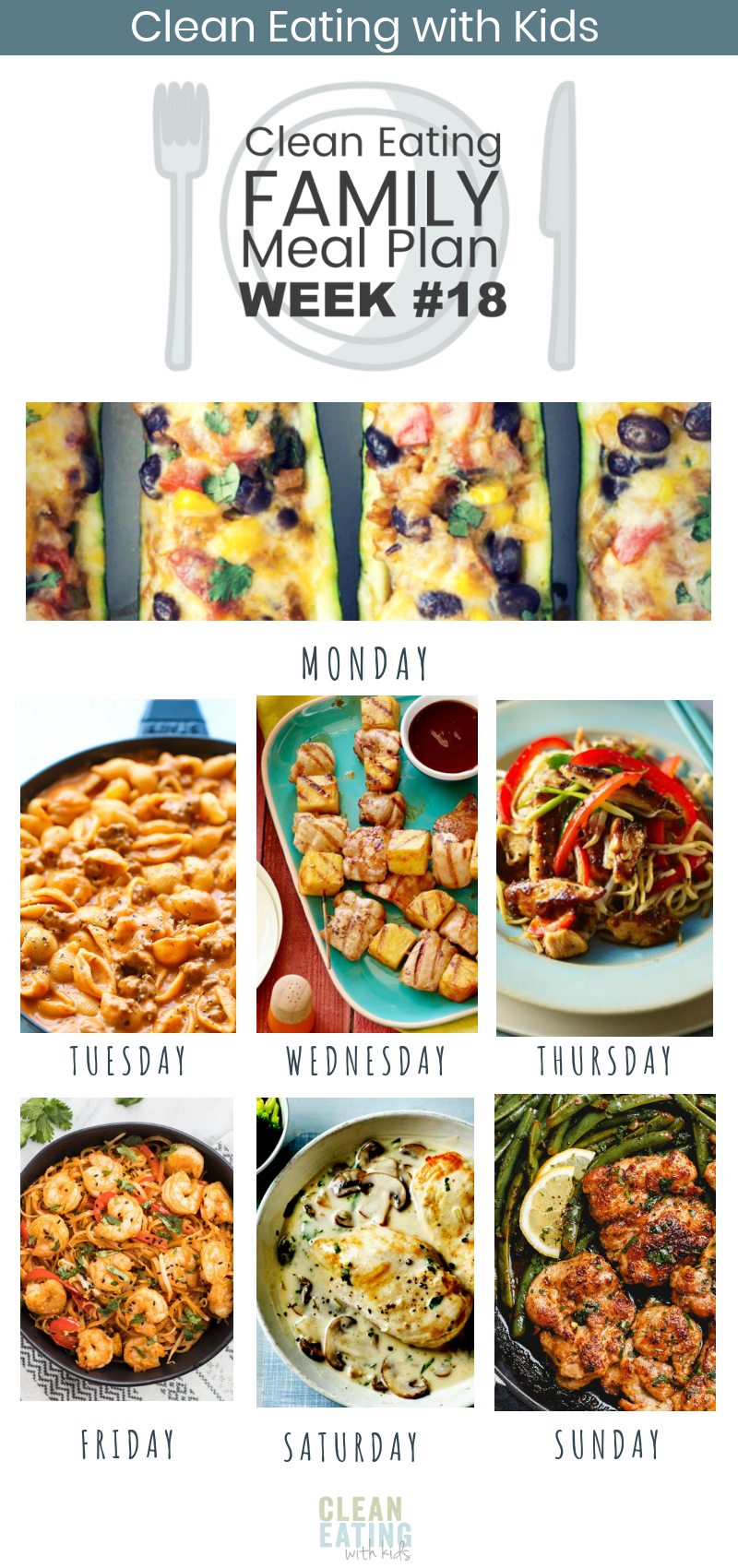 7 Day Clean Eating with Kids Mealplan #18 #cleaneating #mealplans #cleaneatingwi… – Carey&CleanEatingS
