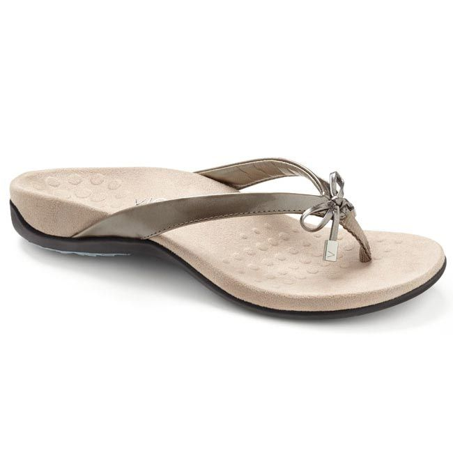 ffbb83f53a00 Vionic Bella 2 Synthetic Pewter Sandals