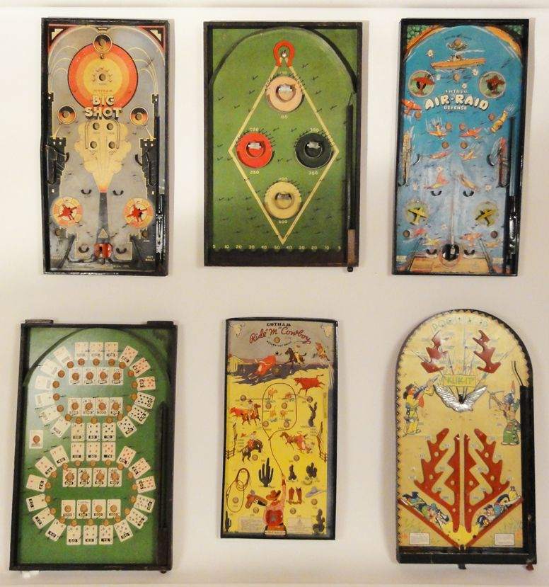 Antique And Vintage Pinball Games From Lostfoundart.com